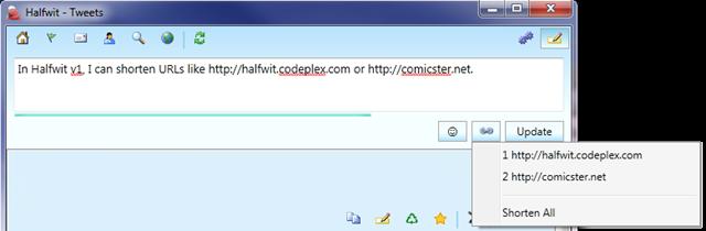 URL Shortening Screenshot